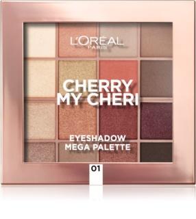 L'Oréal Paris Eyeshadow Mega Palette Cherry My Cheri paleta de sombras de ojos
