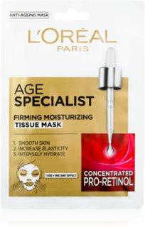 L'Oréal Paris Age Specialist 45+ textilní maska pro okamžité zpevnění a vyhlazení pleti