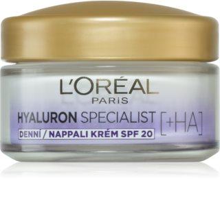 L'Oréal Paris Hyaluron Specialist зволожуючий крем для заповнення зморшок SPF 20