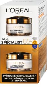 L'Oréal Paris Age Specialist 65+ kozmetika szett duopack nappali + éjszakai krémmel