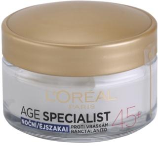 L'Oréal Paris Age Specialist 45+ нічний крем проти зморшок