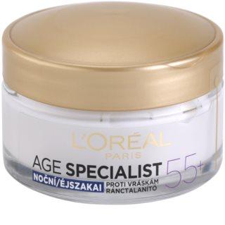 L'Oréal Paris Age Specialist 55+ Nachtcrème  tegen Rimpels