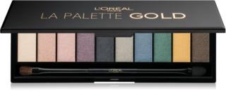 L'Oréal Paris Color Riche La Palette Gold paleta senčil za oči z ogledalom in aplikatorjem