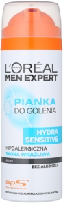 L'Oréal Paris Men Expert Hydra Sensitive espuma de afeitar sin alcohol