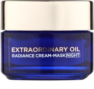 L'Oréal Paris Extraordinary Oil rozjasňujúca nočná krémová maska pre suchú pleť