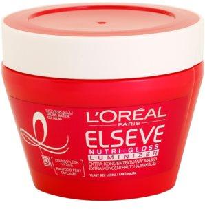 L'Oréal Paris Elseve Nutri-Gloss Luminizer tápláló hajmaszk a magas fényért