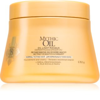 L'Oréal Professionnel Mythic Oil masque léger à l'huile pour cheveux normaux à fins