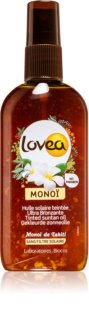 Lovea Monoi spray con color para acelerar el bronceado
