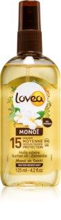 Lovea Monoi Voedende Bruiningsolie  SPF 15