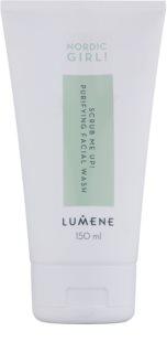 Lumene Nordic Girl! Scrub Me Up! ексфолиращ почистващ гел за кожа с несъвършенства