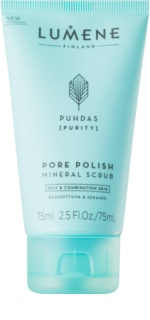 Lumene Cleansing Puhdas [Purity] Cleansing Mineral Scrub for Oily and Combiantion Skin