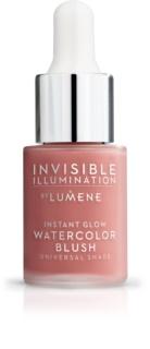 Lumene Invisible Illumination folyékony arcpirosító az élénk bőrért