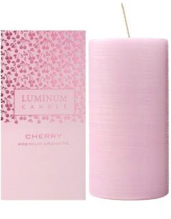 Luminum Candle Premium Aromatic Cherry dišeča sveča    velika (Ø 70 - 130 mm, 65 h)