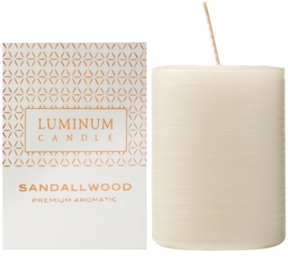 Luminum Candle Premium Aromatic Sandalwood αρωματικό κερί μεσαίο (Ø 60 - 80 mm, 32 h)