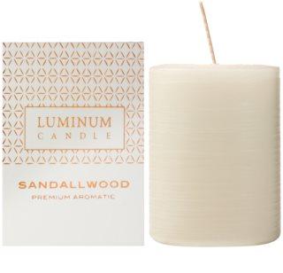 Luminum Candle Premium Aromatic Sandallwood dišeča sveča    srednja (Ø 60 - 80 mm, 32 h)