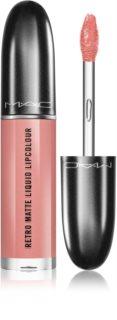 MAC Retro Matte Liquid Lipcolour batom mate com efeito metálico