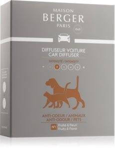 Maison Berger Paris Car Anti Odour Animal parfum pentru masina Refil (Fruity & Floral) 2 x 17 g
