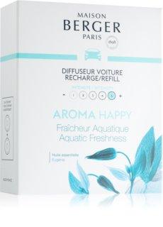 Maison Berger Paris Car Aroma Happy parfum pentru masina Refil (Aquatic Freshness)