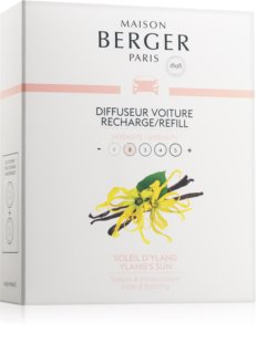 Maison Berger Paris Car Ylang's Sun parfum pentru masina 2 x 17 g Refil