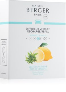 Maison Berger Paris Car Zest Of Verbena vôňa do auta 2 x 17 g náhradná náplň