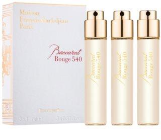 Maison Francis Kurkdjian Baccarat Rouge 540 eau de parfum unisex 3 x 11 ml recarga