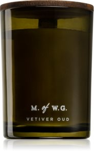 Makers of Wax Goods Vetiver Oud vela perfumada com pavio de madeira