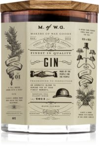 Makers of Wax Goods Gin illatos gyertya  fa kanóccal