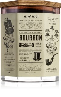 Makers of Wax Goods Bourbon illatos gyertya  fa kanóccal