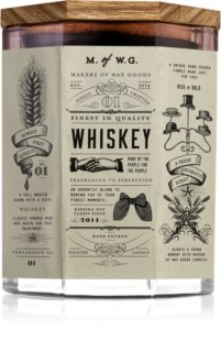 Makers of Wax Goods Whiskey illatos gyertya  fa kanóccal