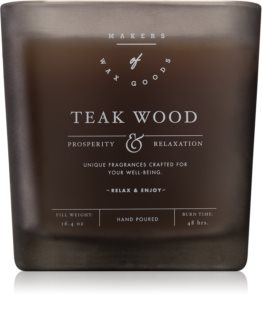 Makers of Wax Goods Teak Wood duftkerze