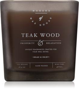 Makers of Wax Goods Teak Wood vonná svíčka