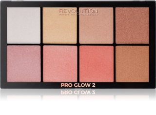 Makeup Revolution Pro Glow 2 paleta de iluminadores