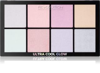 Makeup Revolution Ultra Cool Glow палетка хайлайтерів