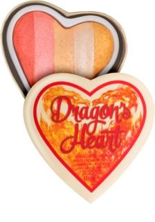Makeup Revolution I ♥ Makeup Dragon's Heart rozjasňovač na oči a tvář