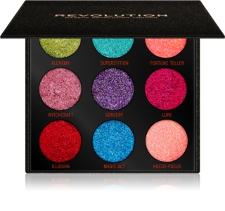 Makeup Revolution Pressed Glitter Palette highlighter paletta