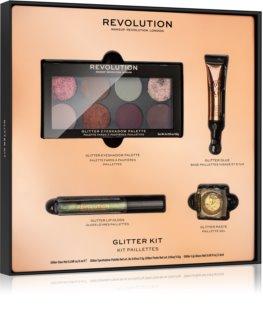 Makeup Revolution Glitter Kit csillám szemhéjfesték palettába