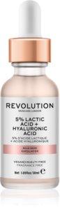 Makeup Revolution Skincare 5% Lactic Acid + Hyaluronic Acid peeling facial