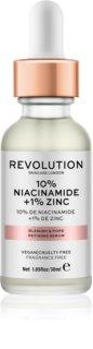 Makeup Revolution Skincare 10% Niacinamide + 1% Zinc ser pentru pori dilatati