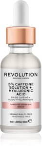 Makeup Revolution Skincare 5% Caffeine solution + Hyaluronic Acid sérum para os olhos