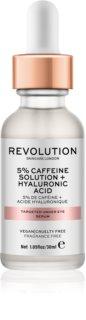 Makeup Revolution Skincare 5% Caffeine solution + Hyaluronic Acid sérum para os olhos