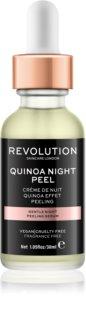 Makeup Revolution Skincare Quinoa Night Peel sérum peeling suave para a noite
