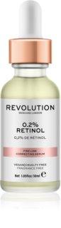 Makeup Revolution Skincare 0.2% Retinol sérum para corregir las arrugas finas