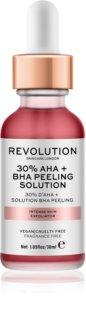 Makeup Revolution Skincare 30% AHA + BHA Peeling Solution  Intensives chemisches Peeling zur Verjüngung der Gesichtshaut
