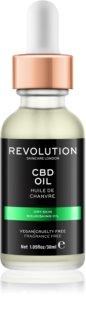 Makeup Revolution Skincare CBD Oil óleo nutritivo  para pele seca