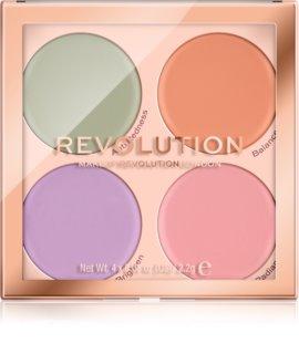 Makeup Revolution Matte Base paleta de corretores contra imperfeições de pele