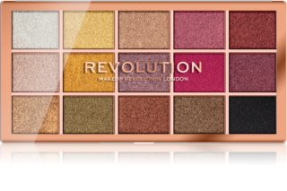 Makeup Revolution Foil Frenzy палітра тіней для повік металік