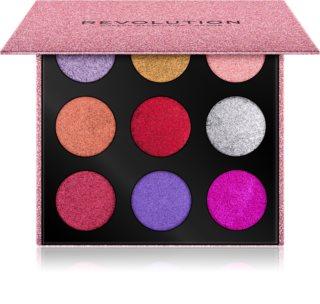 Makeup Revolution Pressed Glitter Palette Pressad skimmerpalett