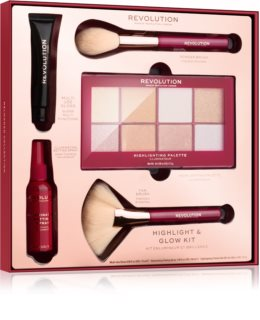 Makeup Revolution Highlight & Glow lote de regalo (para mujer)