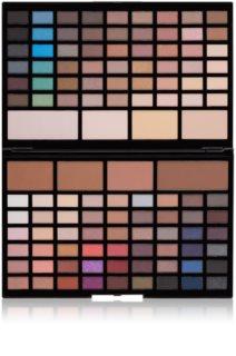 Makeup Revolution Pro HD Eyes & Contour paleta senčil za oči in pudrov za konture z osvetljevalcem