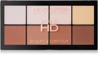 Makeup Revolution Pro HD Sculpt & Contour paleta na kontúry tváre